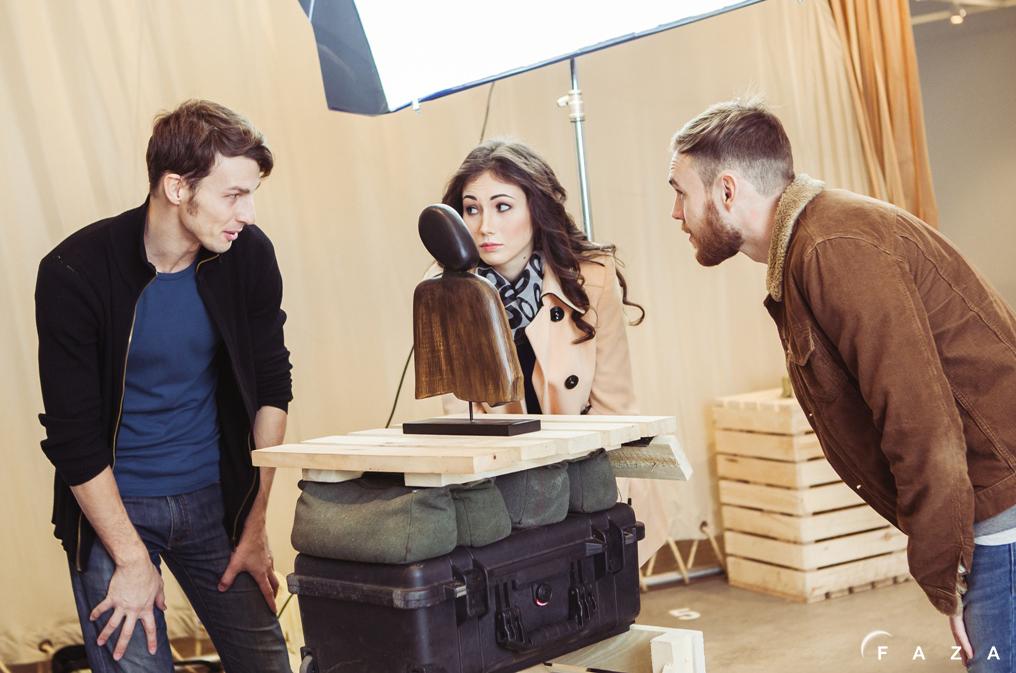 Работа с актерами на съемках рекламы дизайн-фабрики «Заря»